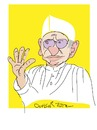 Cartoon: ANNA HAZARE (small) by gungor tagged india