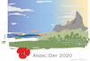 Cartoon: Anzac Day 2020 (small) by gungor tagged australia