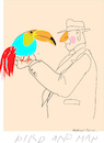 Cartoon: Bird and Man (small) by gungor tagged nature