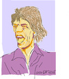 Cartoon: Mick Jagger (small) by gungor tagged music