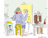 Cartoon: Painter and Model-2 (small) by gungor tagged usa