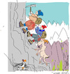 Cartoon: Rock Climbers (small) by gungor tagged adventure