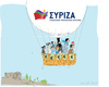 Cartoon: Syriza (small) by gungor tagged greece