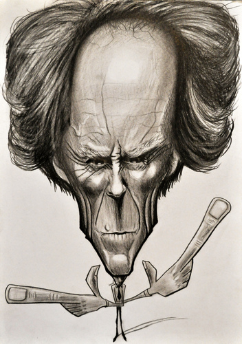 Cartoon: Do you feel lucky..punk.. (medium) by Tomek tagged clint,eastwood