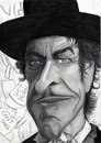 Cartoon: Bob Dylan (small) by Tomek tagged music