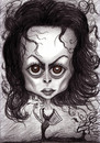 Cartoon: Helena Bonham Carter (small) by Tomek tagged fantasy