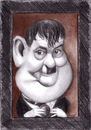 Cartoon: Oliver Hardy (small) by Tomek tagged laurel,and,hardy,oliver,comedy,silent,films