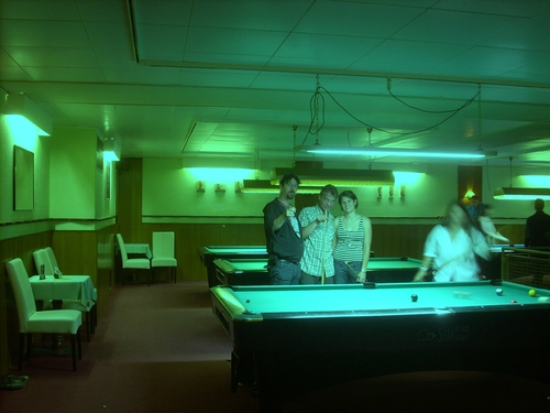 Cartoon: Hopper style photo (medium) by freakyfrank tagged billiard,neon,hopper