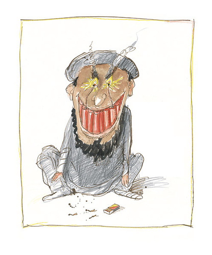 Cartoon: Taliwahn (medium) by Peter Bauer tagged taliban,terrorismus,bomben