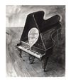 Cartoon: Schwarze raus! (small) by Peter Bauer tagged rassismus klavier peter bauer black and white