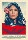 Cartoon: Trump Melania (small) by ESchröder tagged trump,ehefrau,melania,first,lady,usa,poster,shepard,fairey