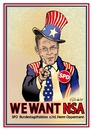 Cartoon: WE WANT NSA (small) by ESchröder tagged nsa,spd,thomas,oppermann,fraktionschef,bundestag,uncle,sam,skandal,bnd