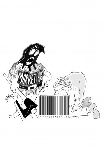 Cartoon: bar code 6 (medium) by Dragan tagged bar,code