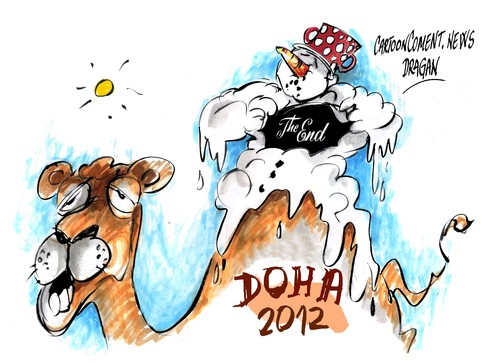 Cartoon: Cumbre Doha 2012 (medium) by Dragan tagged cumbre,doha,2012,cambio,climatico,kioto,cartoon