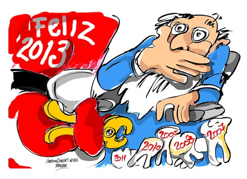 Cartoon: Feliz 2013 (medium) by Dragan tagged feliz,2013