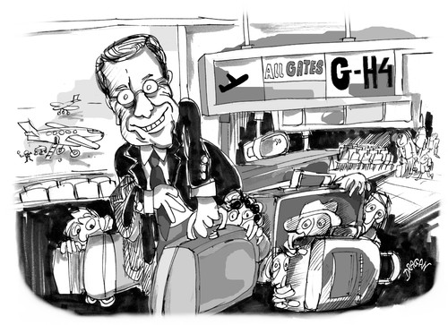 Cartoon: Guido Westerwelle (medium) by Dragan tagged guido,westerwelle,alemani,ministro,de,exteriores,politics,cartoon