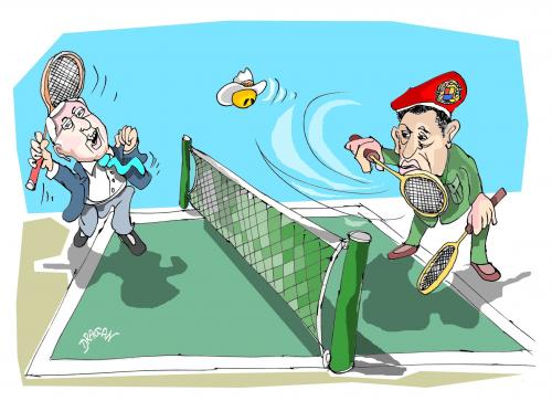 Cartoon: pelota (medium) by Dragan tagged honduras,micheletti,zelaya,chavez