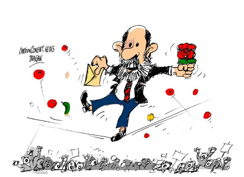 Cartoon: Rubalcaba-92 por ciento (medium) by Dragan tagged psoe,alfredo,perez,rubalcaba,espana,politics,cartoon