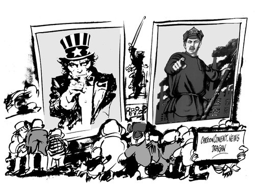 Cartoon: Stalingrado-hace 70 anos (medium) by Dragan tagged stalingrado,70,anos,mosku,rusia,alemania,union,sovietica,segunda,gerra,mundial,politics,cartoon