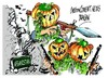 Cartoon: Afganistan-teror (small) by Dragan tagged afganistan,teror,taliban,halloween,terorismo,internacional,fundamentalizmo,politics,csrtoon