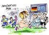 Cartoon: Angela Merkel-espontaneo (small) by Dragan tagged angela,merkel,alemania,grecia,futbol,espontaneo,gdansk,polonia,eurocopa,2012,politics,cartoon
