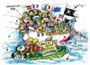 Cartoon: Greenpeace manifiesto-PPC (small) by Dragan tagged greenpeace,manifiesto,ppc,politica,pesquera,comun,union,europe,ue,politics,cartoon