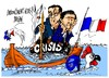 Cartoon: Hollande-Valls- hundimiento (small) by Dragan tagged francois,hollande,manuel,valls,francia,crisis,economica,politics,cartoon