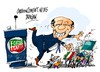 Cartoon: Silvio Berlusconi-caida (small) by Dragan tagged silvio,berlusconi,genova,italia,politics,cartoon