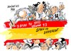 Cartoon: Spain is different (small) by Dragan tagged spain,is,different,corrupcion,partido,popular,pp,politics,cartoon