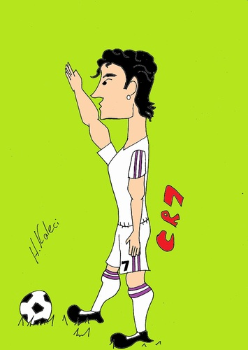 Cartoon: CR7 (medium) by kaleci tagged cypriot