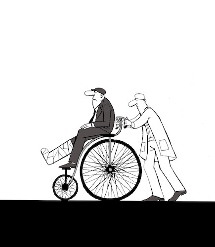 Cartoon: Bicycle Accident... (medium) by berk-olgun tagged bicycle,accident