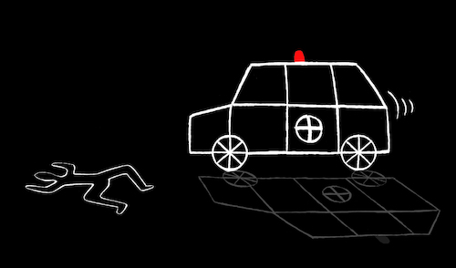 Cartoon: C.S.I. (medium) by berk-olgun tagged ambulance