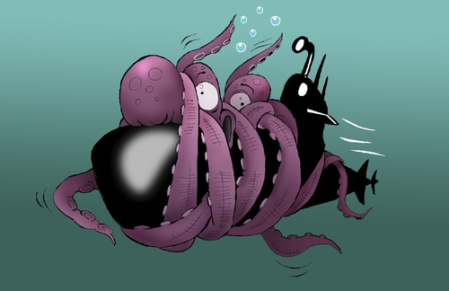 Cartoon: Giant Octopus... (medium) by berk-olgun tagged giant,octopus