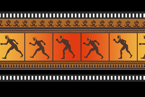 Cartoon: Greek Vase Movie... (medium) by berk-olgun tagged greek,vase,movie