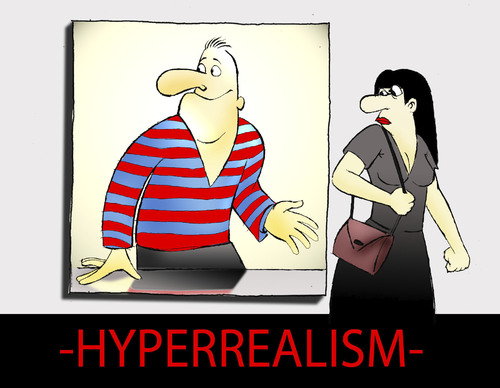Cartoon: Hyperrealism... (medium) by berk-olgun tagged htperrealism
