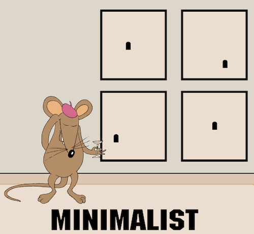 Cartoon: Minimalist... (medium) by berk-olgun tagged minimalist