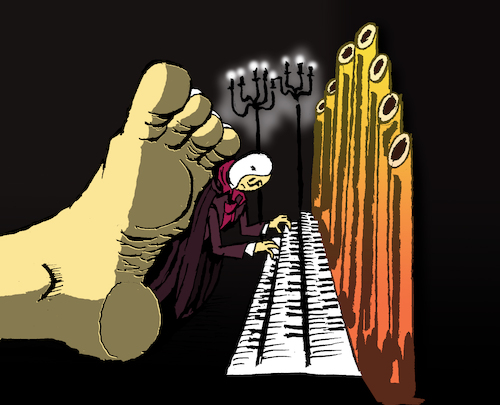 Cartoon: Phantom of the Opera... (medium) by berk-olgun tagged phantom,of,the,opera