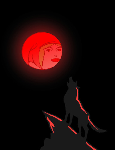 Cartoon: Red Moon... (medium) by berk-olgun tagged red,moon