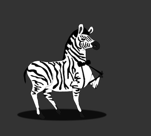 Cartoon: Zebra... (medium) by berk-olgun tagged zebra