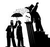 Cartoon: Bodyguard... (small) by berk-olgun tagged bodyguard