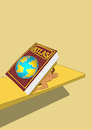 Cartoon: Bookend... (small) by berk-olgun tagged bookend
