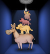 Cartoon: Bremen Musicians... (small) by berk-olgun tagged bremen,musicians