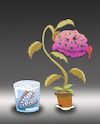 Cartoon: Cannibal Plant... (small) by berk-olgun tagged cannibal,plant