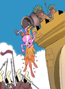 Cartoon: Castle of the Cannibals.. (small) by berk-olgun tagged castle,of,the,cannibals