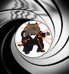 Cartoon: Cat Bond... (small) by berk-olgun tagged cat,bond