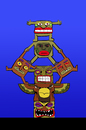 Cartoon: Cheerleaders Totem... (small) by berk-olgun tagged cheerleaders,totem