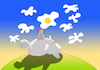 Cartoon: Chicken in Love... (small) by berk-olgun tagged chicken,in,love