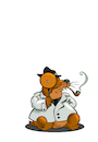 Cartoon: Detective Groundhog... (small) by berk-olgun tagged detective,groundhog