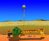 Cartoon: Giraffe and Trench... (small) by berk-olgun tagged giraffe,and,trench