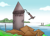Cartoon: Hezarfen.. (small) by berk-olgun tagged hezarfen
